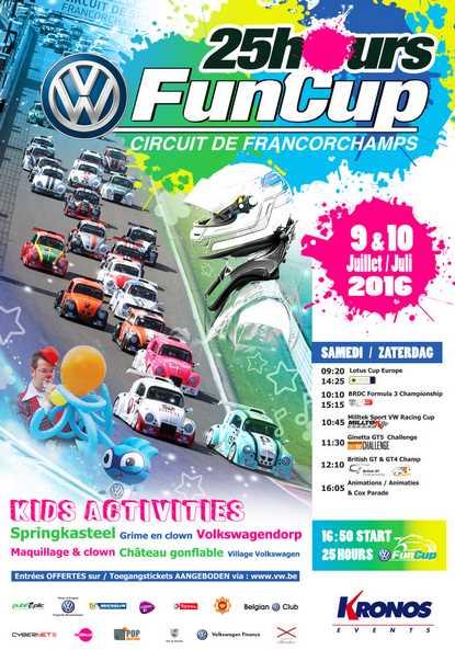 25H VW Fun Cup de Spa-Francorchamps – du 7 au 10 juillet 2016