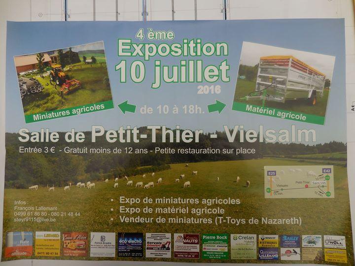 Exposition de miniatures et machines agricoles