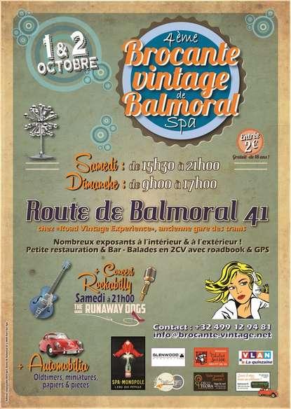 4ème Brocante vintage de Balmoral : les 1 et 2 octobre 2016