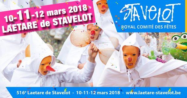 Laetare de Stavelot (10, 11 et 12 mars 2018): en route pour la 516ème édition!